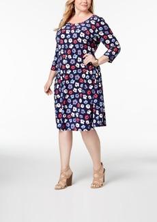 Anne Klein Plus Size Floral-Print Dress
