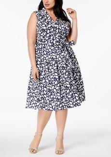 Anne Klein Plus Size Floral-Print Wrap Dress
