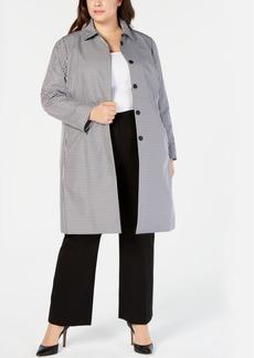 Anne Klein Plus Size Gingham-Print Jacket