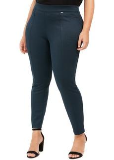 Anne Klein Plus Size Herringbone Seamed Ankle Pants