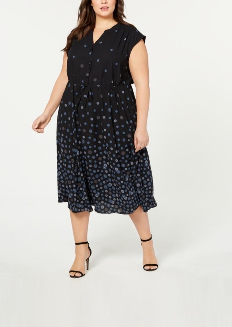 Plus Size Nathalie Printed Maxi Shirtdress