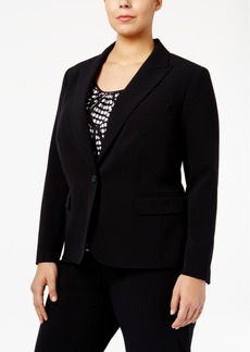 Anne Klein Plus Size One-Button Blazer