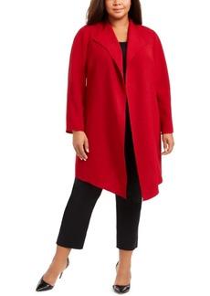 Anne Klein Plus Size Open Front Draped Jacket