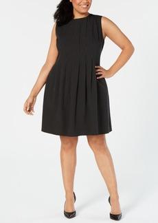 Anne Klein Plus Size Pleated Fit & Flare Dress