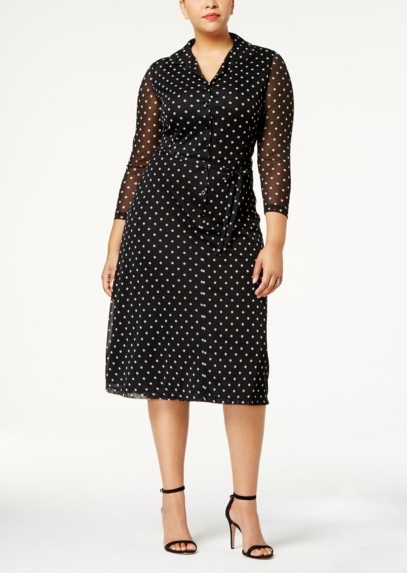 29620296776 Plus Size Sheer Shirt Dress