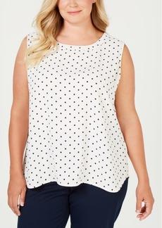 Anne Klein Plus Size Printed Sleeveless Blouse