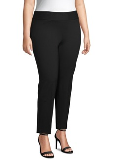 Anne Klein Plus Size Pull-On High-Rise Pants