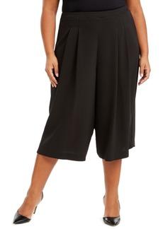 Anne Klein Plus Size Pull-On Polka Dot Culottes