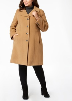 Anne Klein Plus Size Single-Breasted Coat