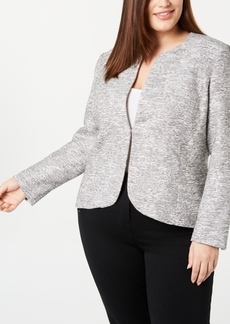Anne Klein Plus Size Tweed Blazer