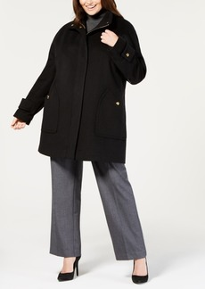 Anne Klein Plus Size Wool-Blend Coat