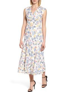 Anne Klein Print Midi Dress