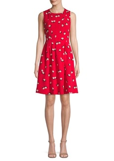 Anne Klein Printed Fit-&-Flare Dress
