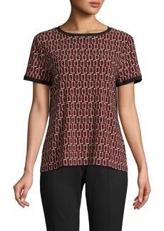 Anne Klein Printed Short-Sleeve Top