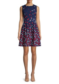 Anne Klein Printed Sleeveless Dress