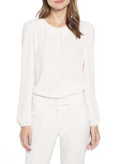 Anne Klein Puff Shoulder Long Sleeve Blouse