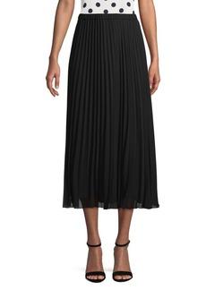 Anne Klein Pull-On Pleated Midi Skirt
