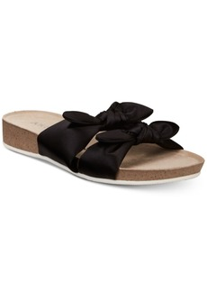 Anne Klein Quilt Platform Slip-On Sandals