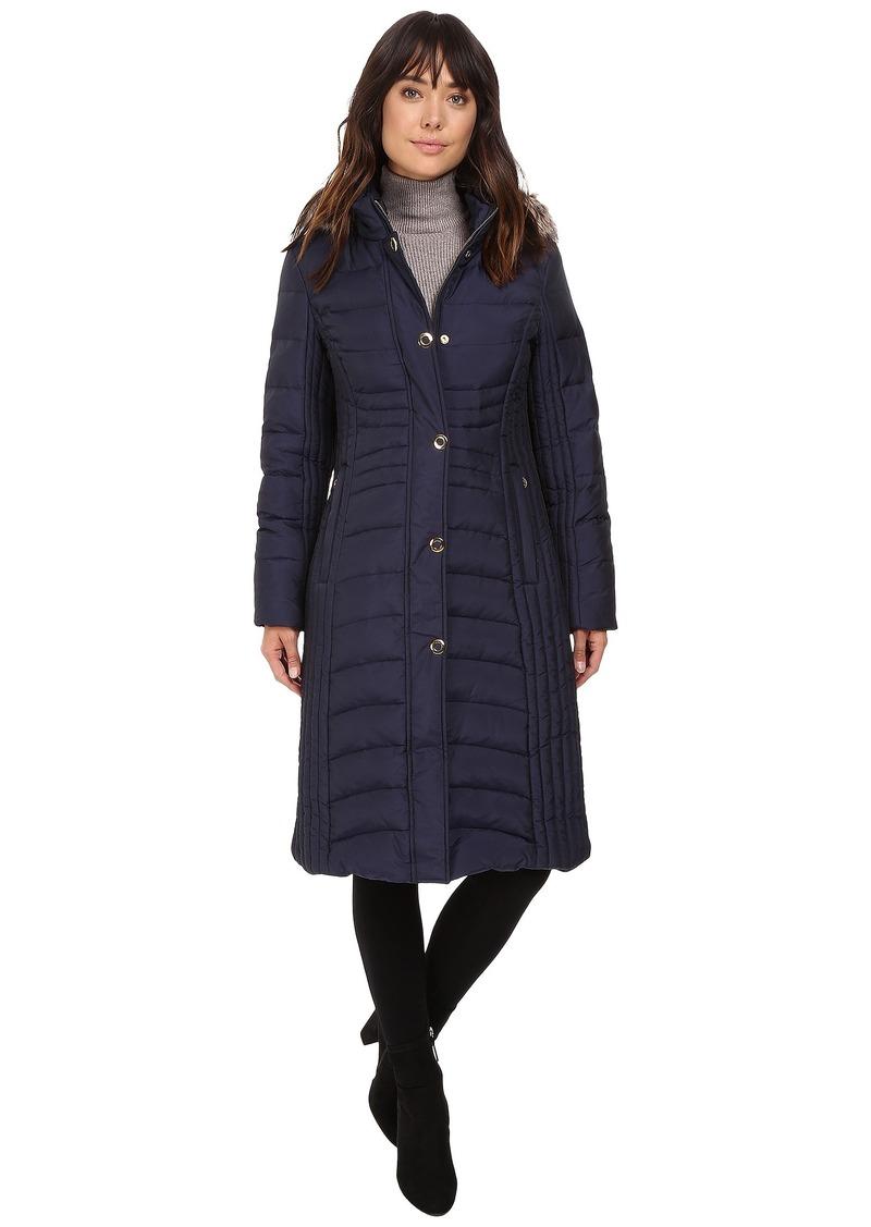 Anne Klein Quilted Jacket with Fur Collar
