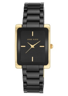 Anne Klein Rectangle Ceramic Bracelet Watch, 28mm x 35mm