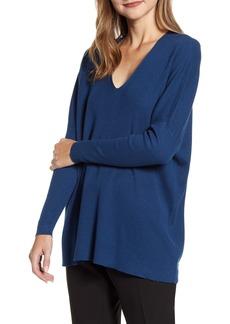 Anne Klein Rib V-Neck Sweater