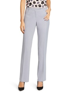 Anne Klein Ridge Crest Straight Leg Twill Trousers