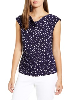 Anne Klein Ritz Dot Cowl Neck Top