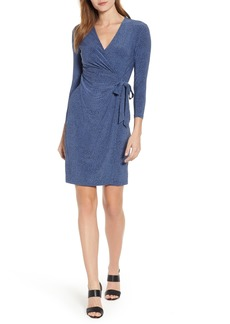Anne Klein Robin's Egg Faux Wrap Dress