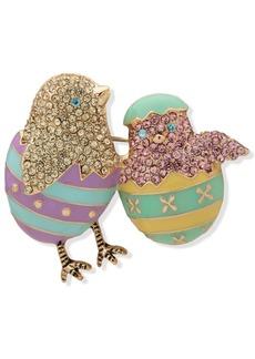 Anne Klein Rose Gold-Tone Pave Chicks Pin