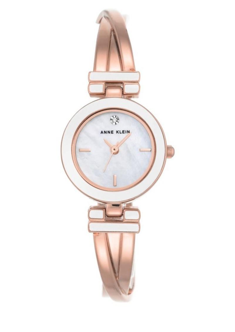 Rose Goldtone Stainless Steel Bracelet Watch