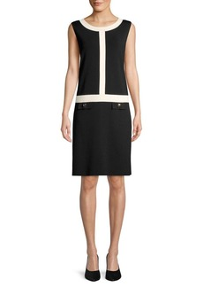 Anne Klein Roundneck Knee-Length Dress