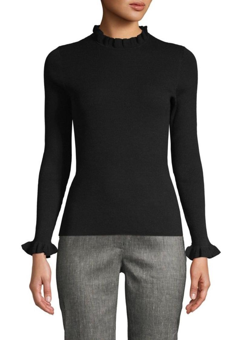 Anne Klein Ruffled-Trim Sweater