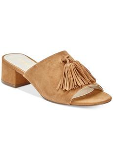Anne Klein Salome Block-Heel Tassel Mule Sandals