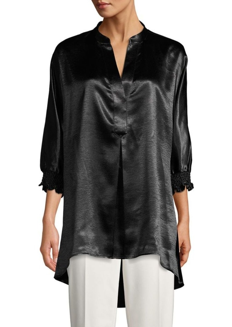 Anne Klein Satin High-Low Tunic