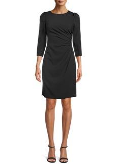 Anne Klein Side Ruched Sheath Dress