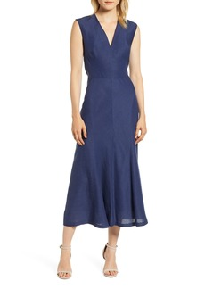 Anne Klein Side Seamed Flared Midi Dress