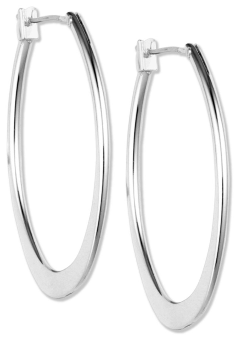 "Anne Klein Silver-Tone 3/4""Oval Hoop Earrings"