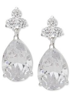Anne Klein Silver-Tone Crystal Drop Earrings