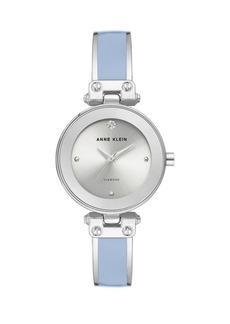 Anne Klein Silvertone & Enamel Quartz Watch