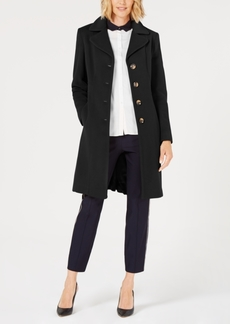 Anne Klein Single-Breasted Wool Coat
