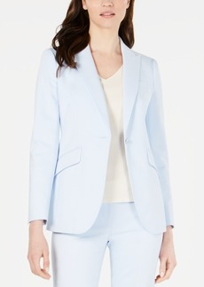 Anne Klein Single-Button Flap-Pocket Blazer
