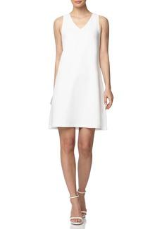 Anne Klein Sleeveless A-Line Linen Minidress