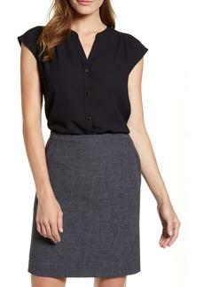 Anne Klein Sleeveless Button-Up Blouse