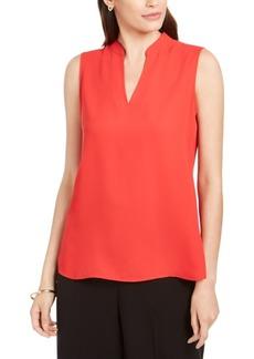 Anne Klein Sleeveless Mandarin-Collar Blouse