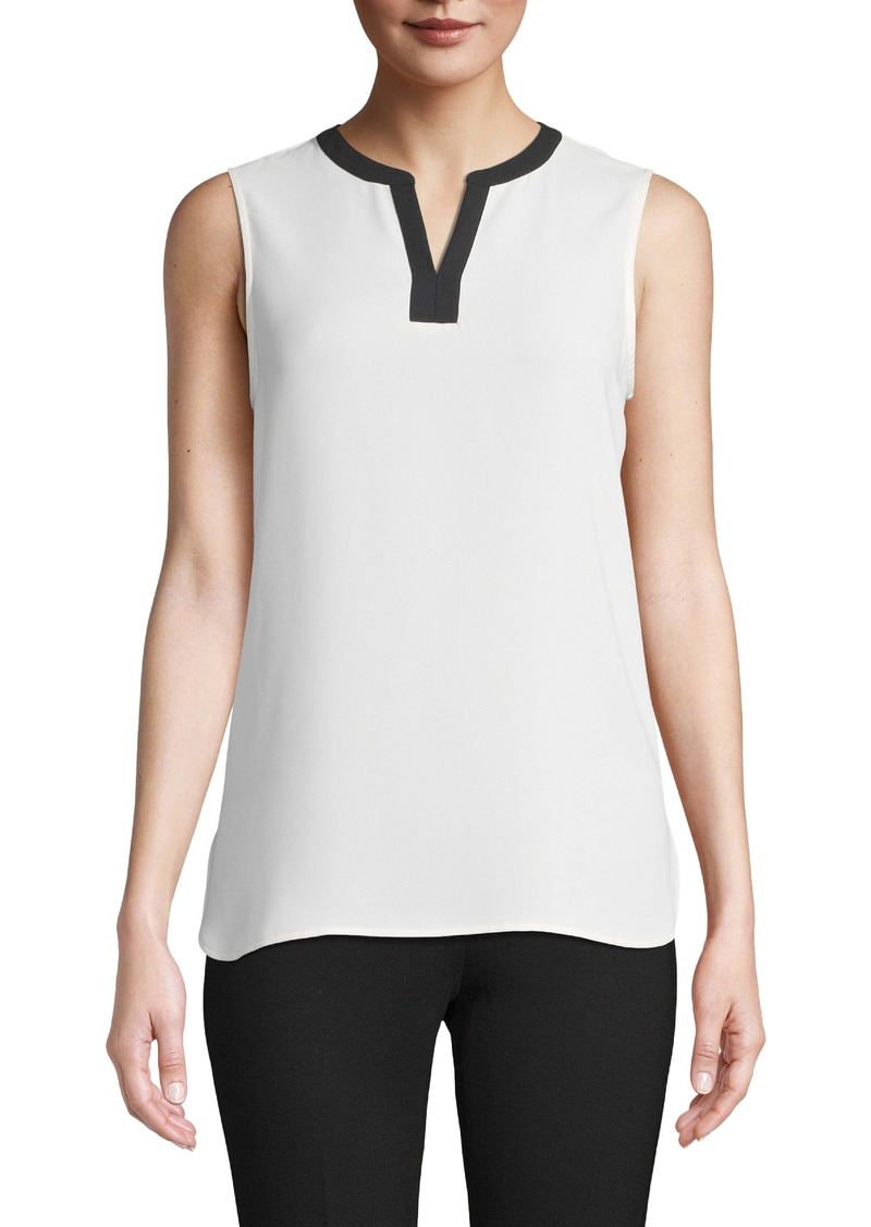 Anne Klein Split Neck Sleeveless Top