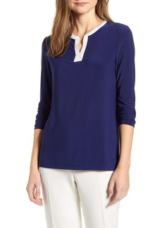 Anne Klein Split Neck Top
