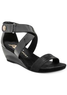 Anne Klein Sport Crisscross Wedge Sandals