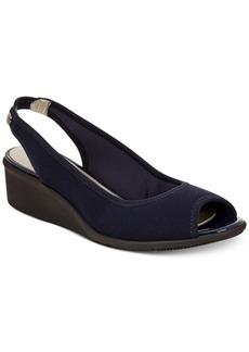 Anne Klein Sport Jayla Peep-Toe Wedge Sandals