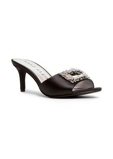 Anne Klein Sprinkle Rhinstone Buckle Sandals