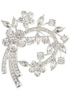 Anne Klein Stone Flower Cluster Arched Pin, Created for Macy's